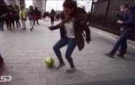 devojka fudbal fristajl smesno